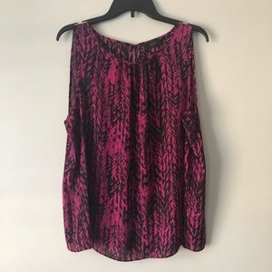 APT 9 Pink and Black Abstract Top